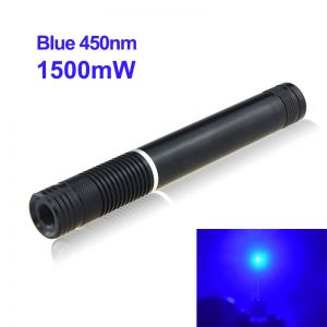 1500mW 450nm Blue High Power Burning Laser Pointer Black