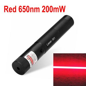 Laser-301 200mW 650nm Red Laser Pointer Zoomable-Focus with Safety Lock