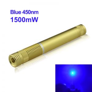1500mW 450nm Blue High Power Burning Laser Pointer Gold