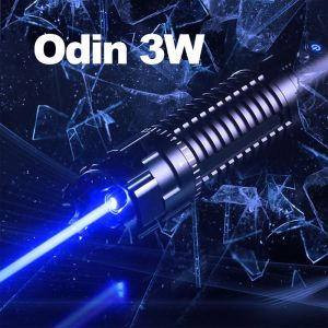 Odin 3000mW High Power Blue Burning Laser Pointer - Best 3W Laser for Burning Stuff